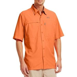 Under Armour Short Sleeve Fishing Shirt Orange